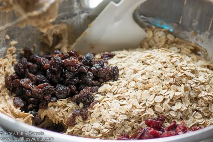 Oatmeal Raisin Cranberry Cookies process photo