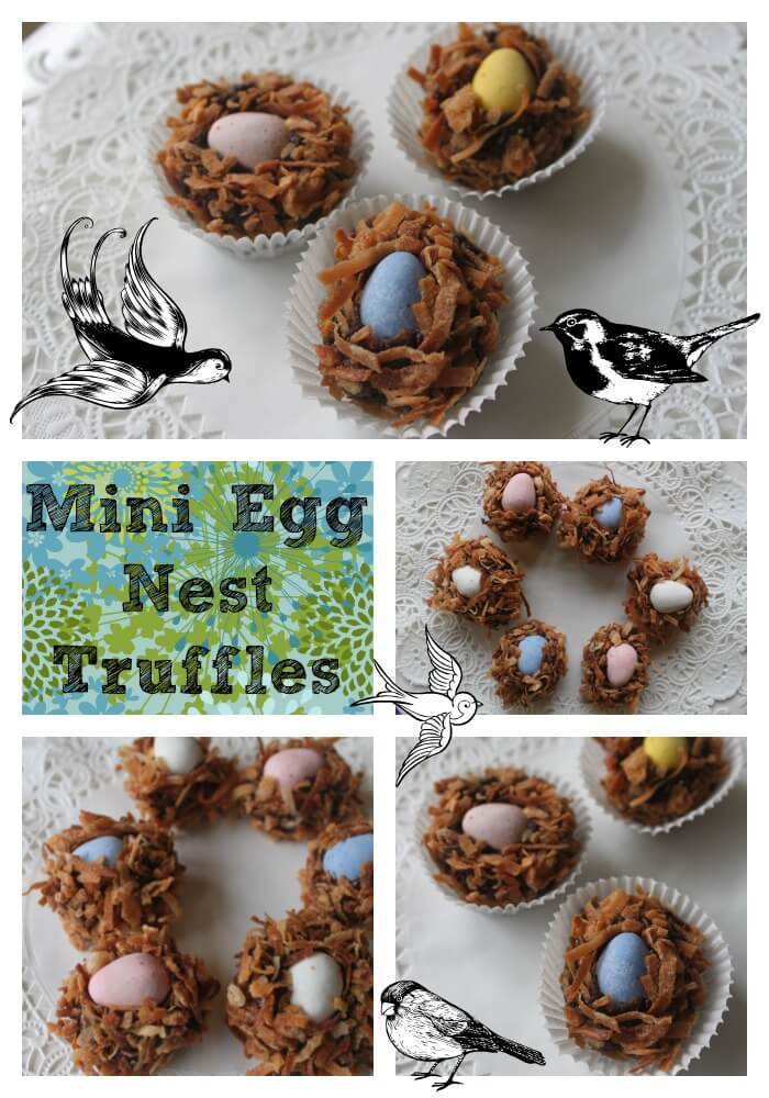 Mini Egg Nest Truffles: How about some toasted coconut encrusted ganache with Cadbury Mini Eggs? Yes, Please! Try these Mini Egg Nest Truffles for your Easter candy enjoyment this Spring!