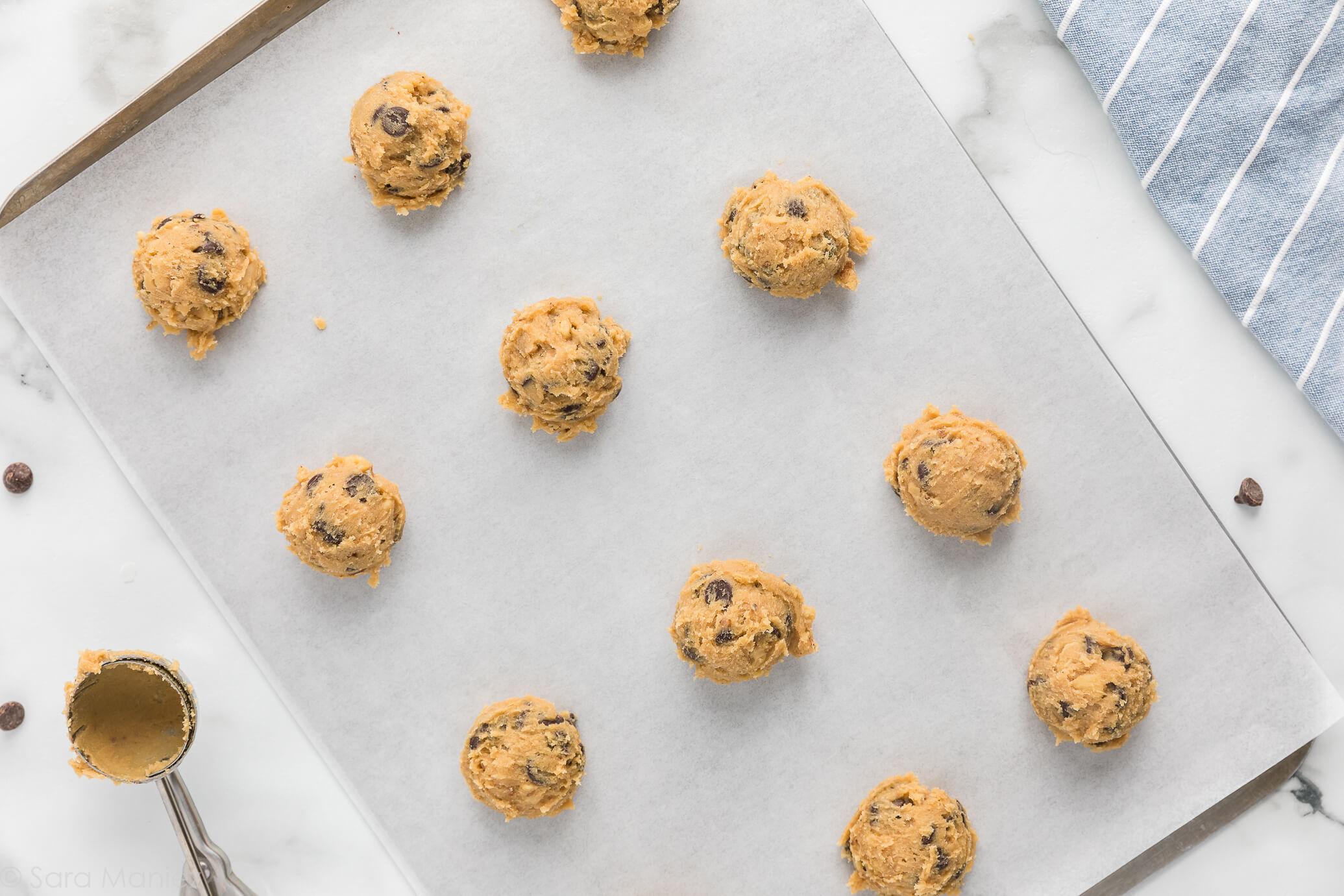 Chocolate Chip Cookies dough balls