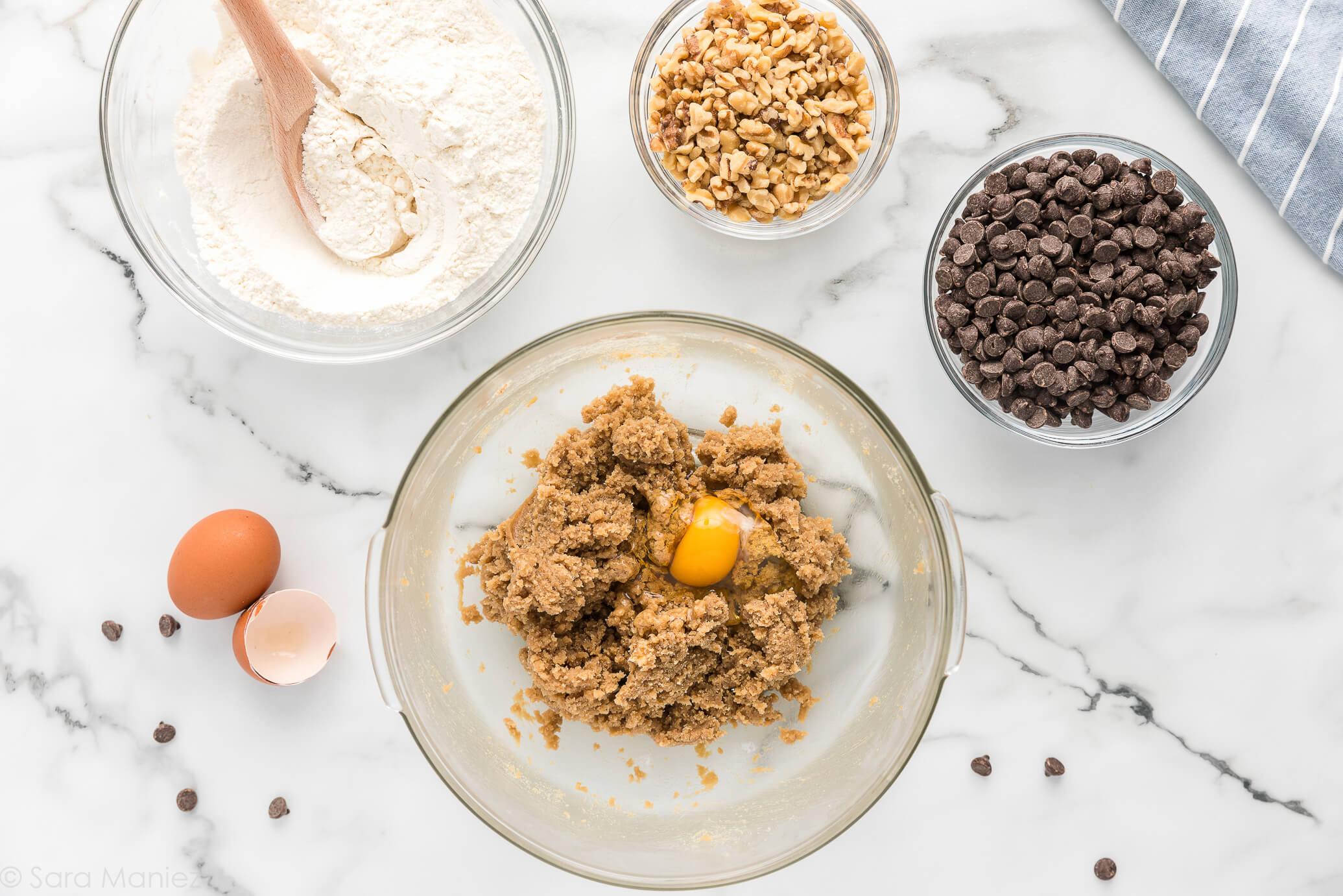 Chocolate Chip Cookies recipe process photo add egg
