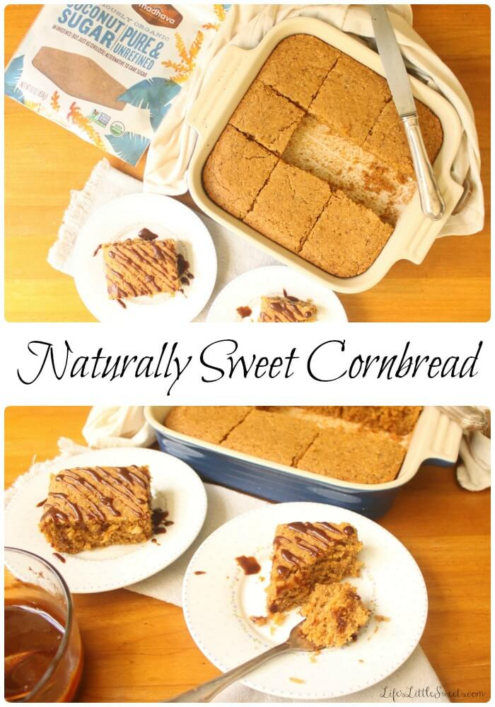 Naturally Sweet Cornbread two views
