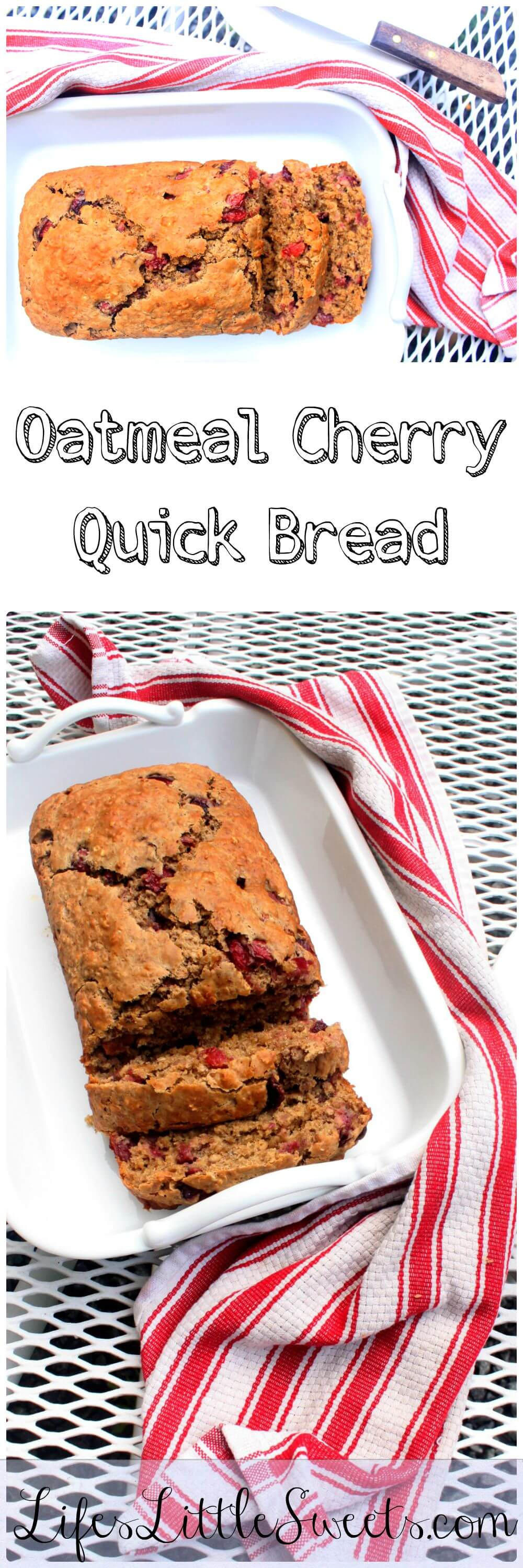 Oatmeal Cherry Quick Bread Healthy Cherries Egg Free