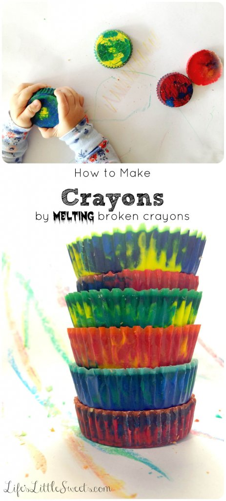 How to make crayons by melting broken crayons