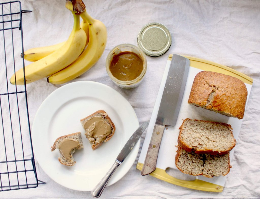 This simple, moist and delicious Vegan Banana Bread is adaptable to accommodate either traditional or vegan baking lifestyles.