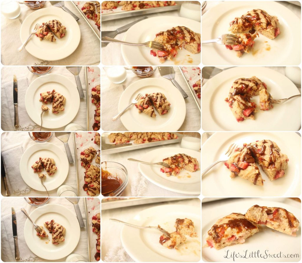 soft strawberry scones grid collage