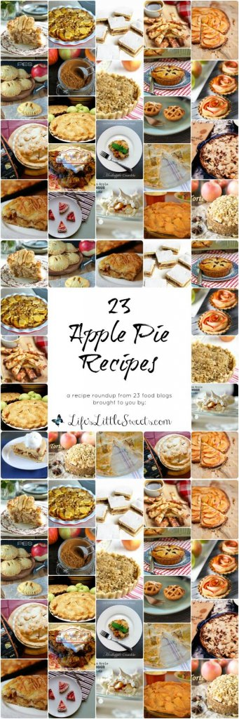 This recipe roundup is all about celebrating the apple pie. Apple pie is an American classic but it has other iterations in other countries and cultures as well. Find yourself with tons of apples because it's apple season? Here in New Jersey, the apple season starts September 1st and goes as late as October 31st. Just love a good slice 'o pie any time of the year? You have come to the right place! Here are 23 apple pies to show you there's more than one way to make apple pie!