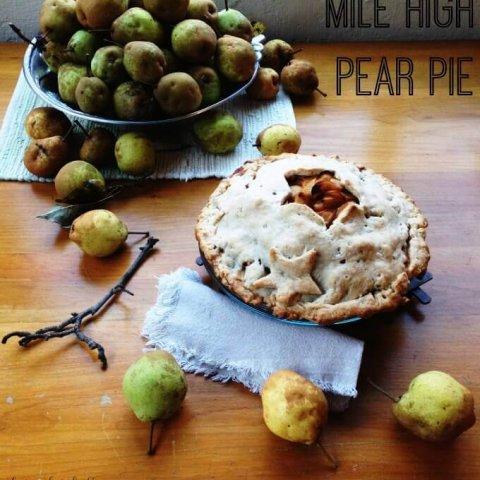 Mile High Pear Pie