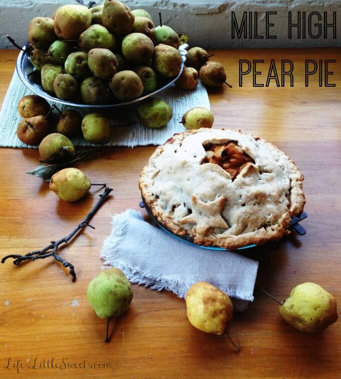 Mile High Pear Pie | Pie Recipe Collection