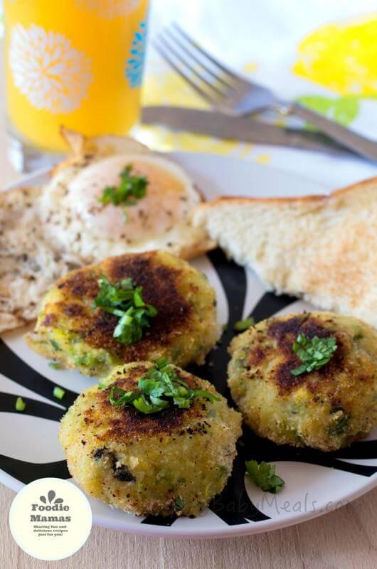 Breakfast Tikkis from Deepika of Easy Baby Meals #FoodieMamas