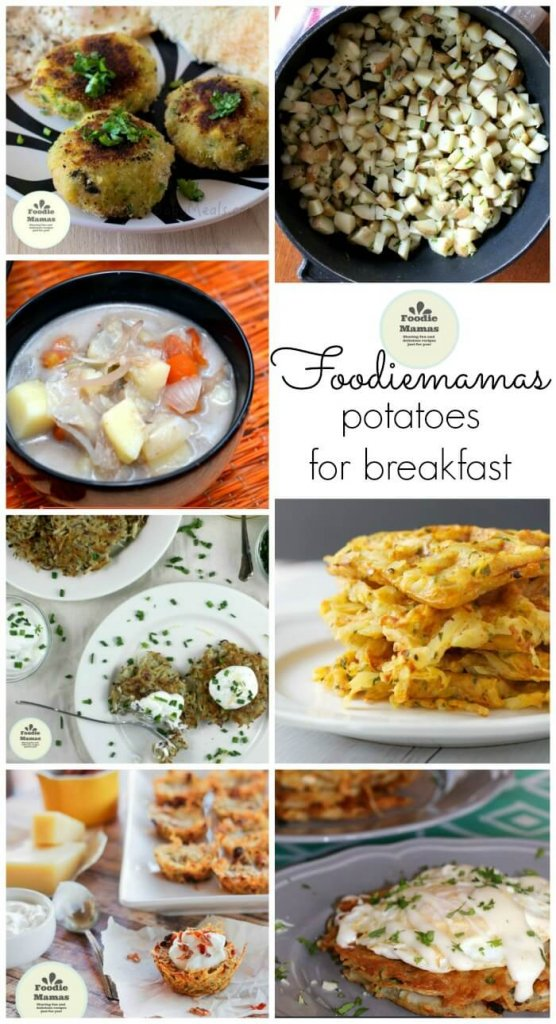 Gluten-Free Potato Pancakes collage with other recipes