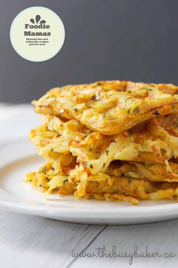 Waffle-Iron Hash Brown Breakfast Potatoes from Chrissie Baker at The Busy Baker #FoodieMamas
