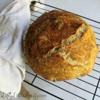 No-Knead Flaxseed Bread