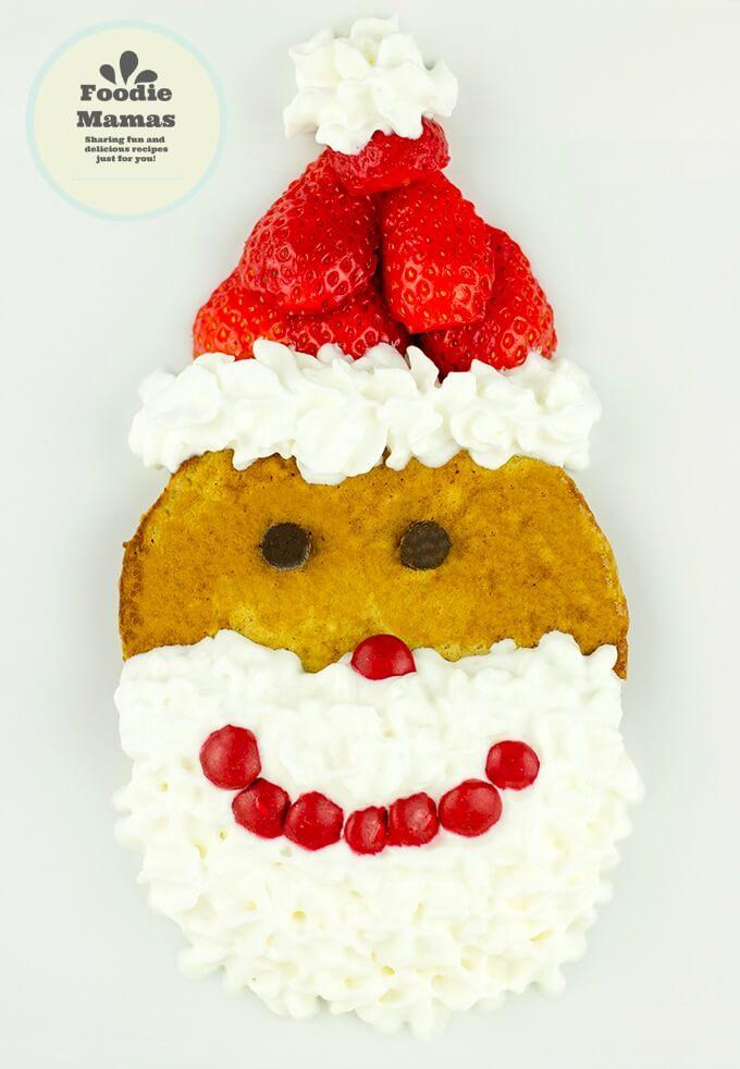 Strawberry Gingerbread Santa Pancakes from Sabrina of Dinner then Dessert