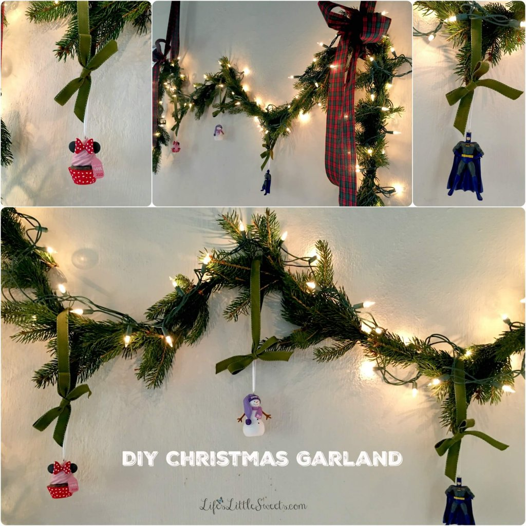 DIY Christmas Garland & Greeting Card Table - Life s Little Sweets