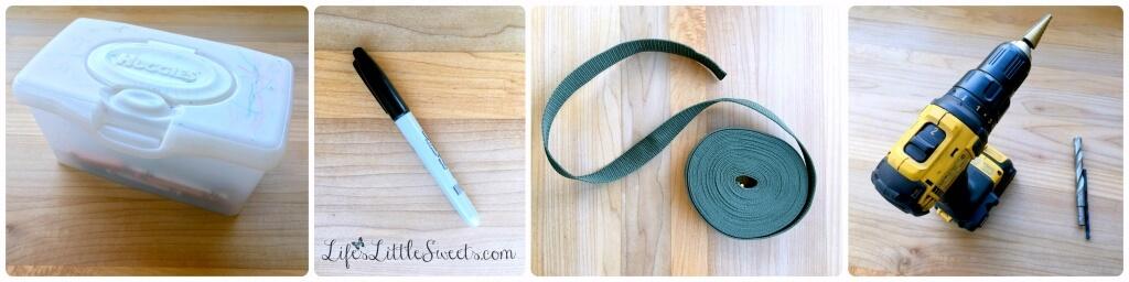 DIY Crayon Caddy: Step 1 - Gather your Materials #CollectiveBias #ad #HuggiesNewYear