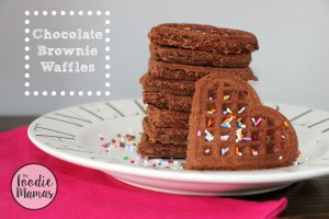 Chocolate Brownie Waffles from Kaitie of Fuchsia Freezer