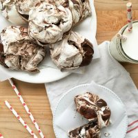 Chocolate Swirl Meringue Cookies #FoodieMamas