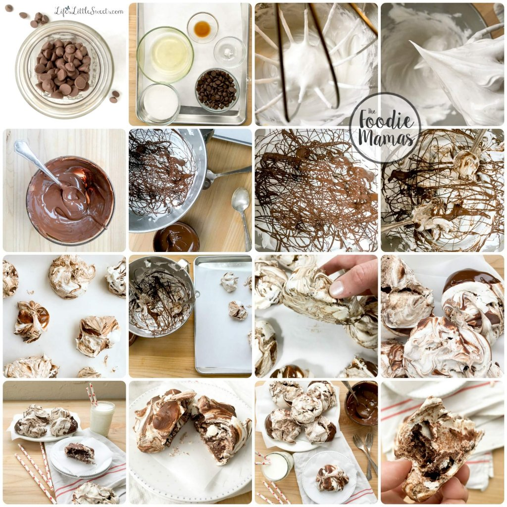 Chocolate Swirl Meringue Cookies have only 5 ingredients and are a decadent alternative to a traditional cookie. Be sure to check out the other #FoodieMamas Chocolate recipes in the roundup!