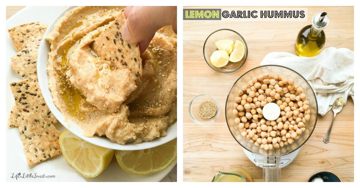 Lemon Garlic Hummus - Life's Little Sweets