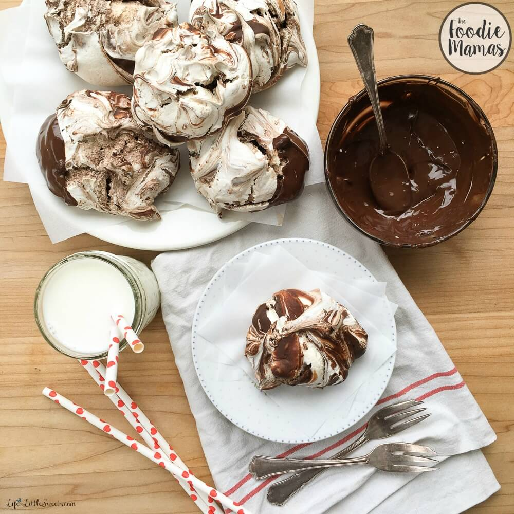 Chocolate Swirl Meringue Cookies #FoodieMamas