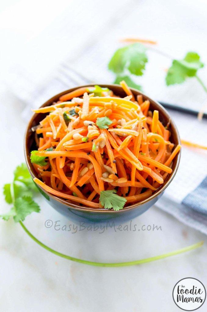 Quick Carrot Salad from Deepika Haldankar of EasyBabyMeals #FoodieMamas