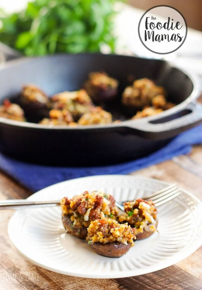 Chorizo & Manchego Stuffed Mushrooms - Ali Randall | Home & Plate