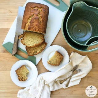 Easy Banana Bread + Nesting Stoneware Mixing Bowls from Uncommon Goods Review - Easy Banana Bread is a traditional banana bread and perfect for breakfast, snack or dessert. Check out my review of the Nesting Stoneware Mixing Bowls that I used to make this banana bread from Uncommon Goods!