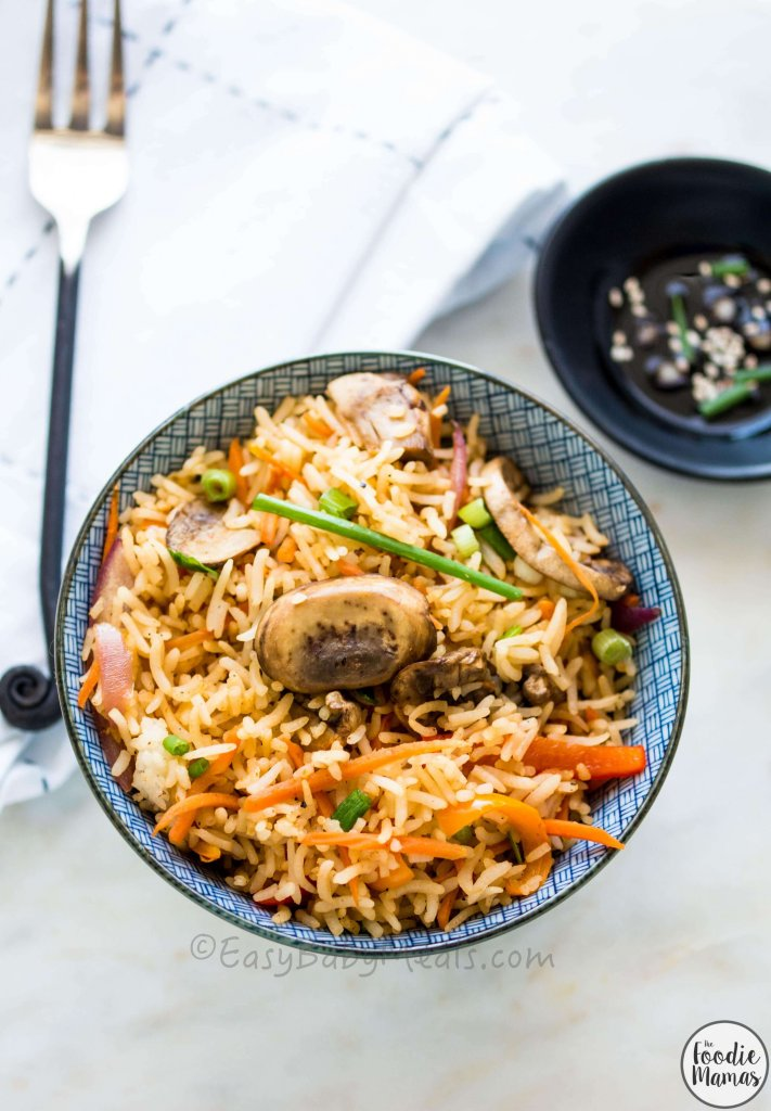 Mushroom Fried Rice - Deepika Haldankar | EasyBabyMeals