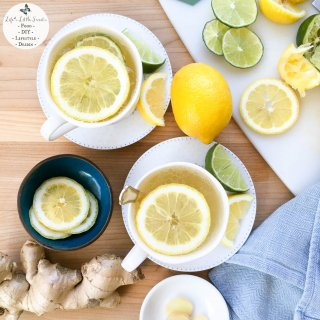 Citrus Honey Ginger Tea is an invigorating, fresh, hot, tea drink to help banish winter health woes and it is our go-to cold & flu remedy.