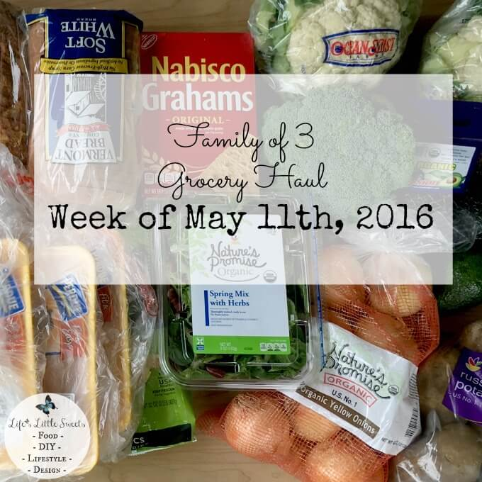 Here is a typical, weekly Family of 3 Grocery Haul from this month's week of May 11th, 2016 at Stop & Shop. Check out a video of showing every item and our total cost! #lifeslittlesweets