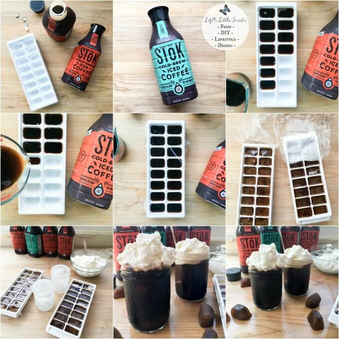 Whipped Cream Cold-Brew Iced Coffee has cold-brew iced coffee ice cubes with lofty homemade Vanilla Whipped Cream. Enjoy SToK™ Cold-Brew Iced Coffee unsweetened, vanilla, mocha or not too sweet. I share my recipe and tutorial. See what my husband Eric's new passion project is and how his creativity inspires me :) #ad #SToKCoffee #cbias #CollectiveBias