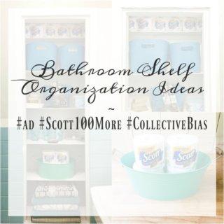 Bathroom Shelf Organization Ideas BJ's Wholesale Club Scott Tissue Shop ad Scott100More CollectiveBias 680x680