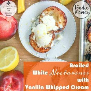 Broiled White Nectarines with Vanilla Whipped Cream www.lifeslittlesweets.com Sara Maniez 680x680 Index
