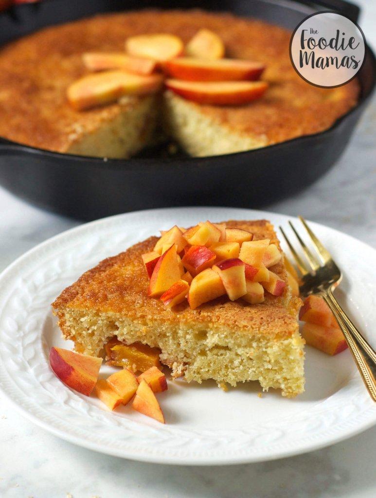 Nectarine Skillet Cake - Lucy | Turnip the Oven