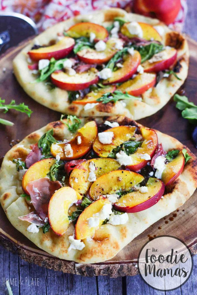 Grilled Nectarine Prosciutto Pizza - Ali - Home & Plate