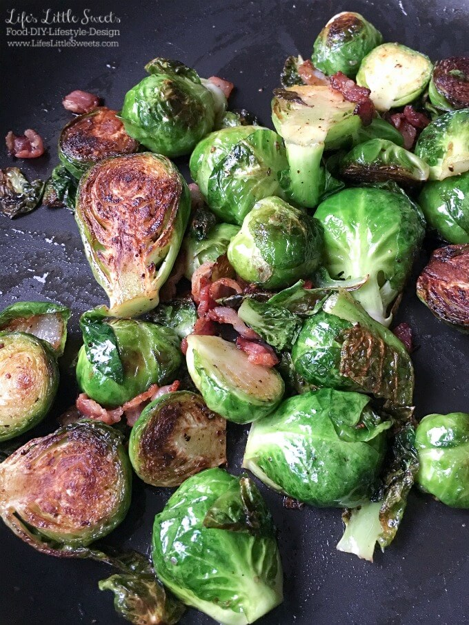 Pan-Fried Bacon Brussels Sprouts