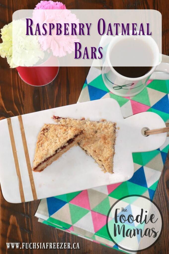 Raspberry Oatmeal Bars - Kaitie Lawlor | Fuchsia Freezer #FoodieMamas
