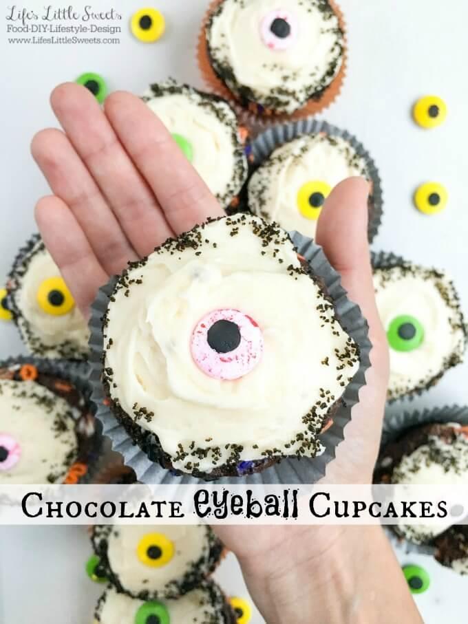 Chocolate Eyeball Halloween Cupcakes on SoFabFood