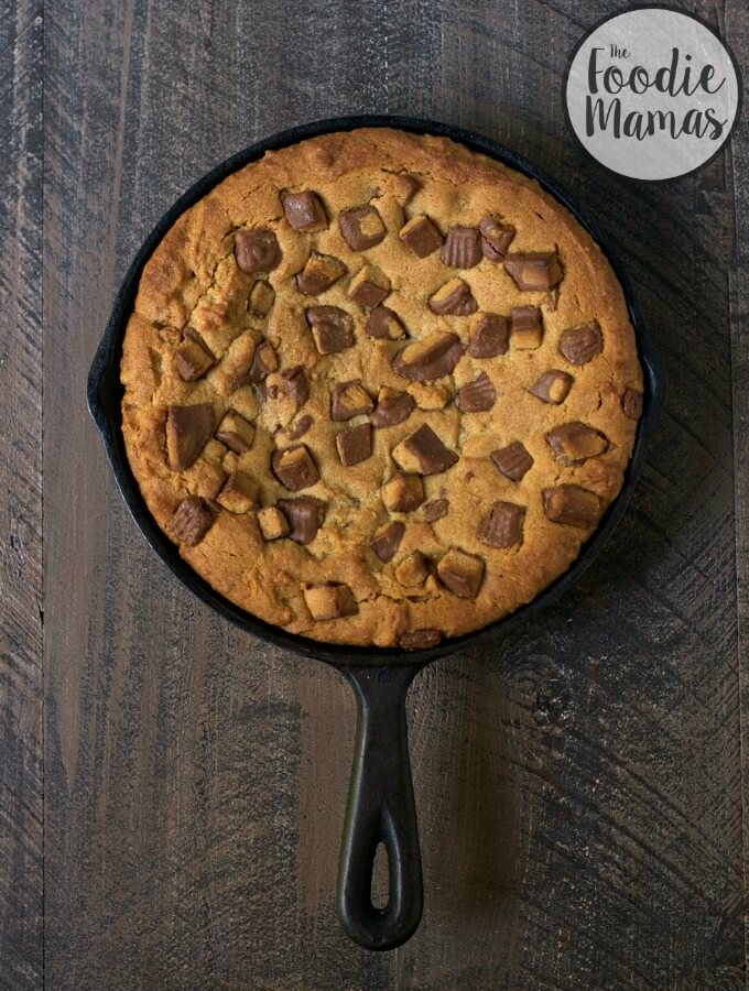 Peanut Butter Cup Skillet Cookie | Lucy Baker - Turnip the Oven