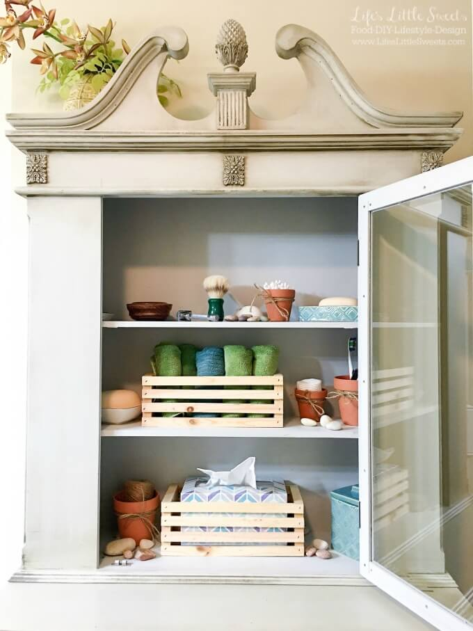 Check Out These 6 Tips To Organize Bathroom Open Shelves! I Share An Open