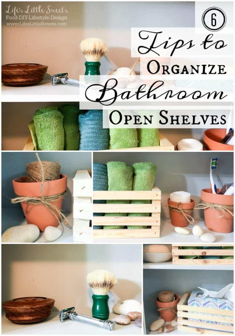 Bathroom Organizers Target tips to organize bathroom open shelves - scotch brite