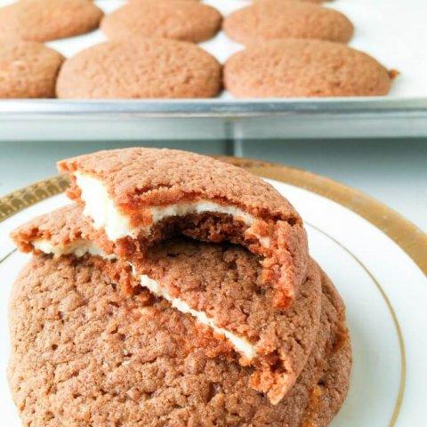 Cheesecake Stuffed Gingerbread Cookies