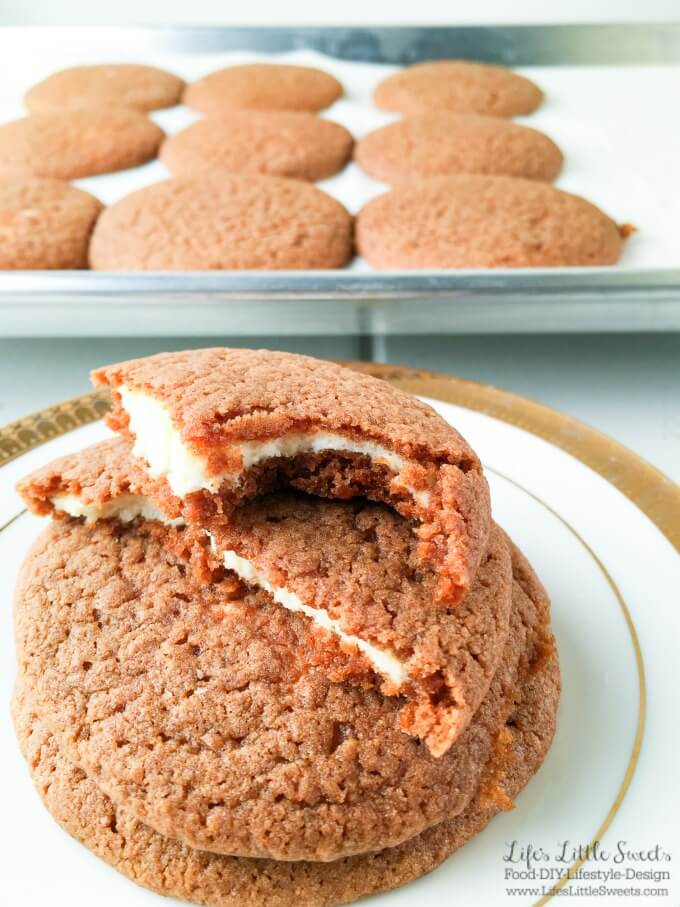 Cheesecake Stuffed Gingerbread Cookies