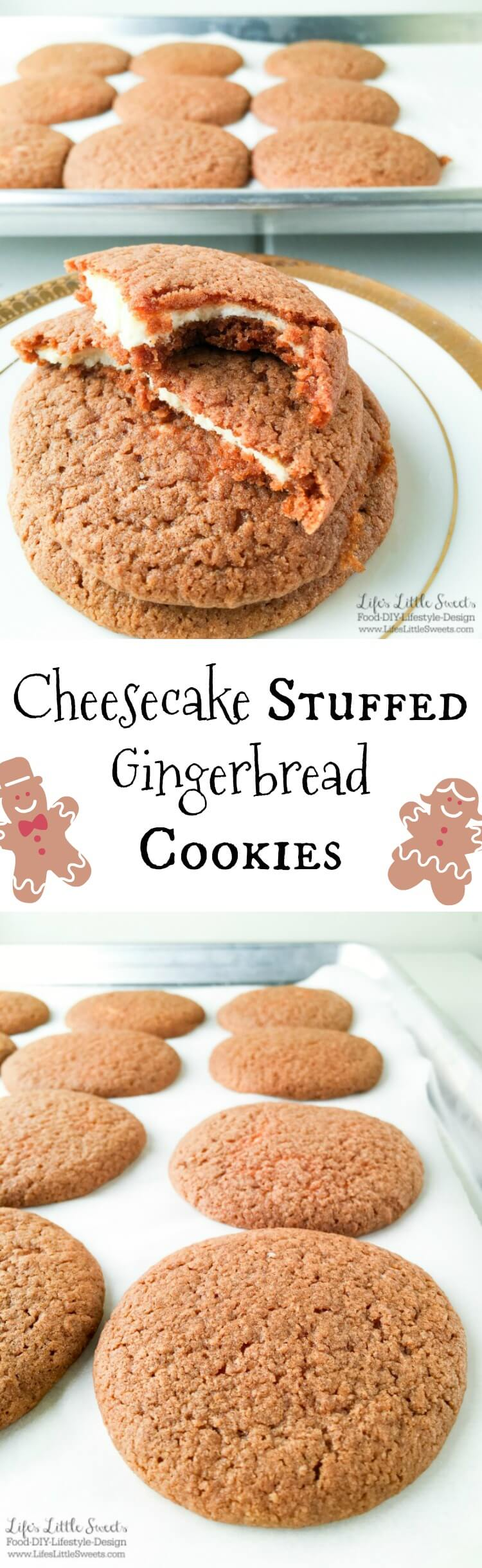 Cheesecake Stuffed Gingerbread Cookies - Chewy, Soft ...