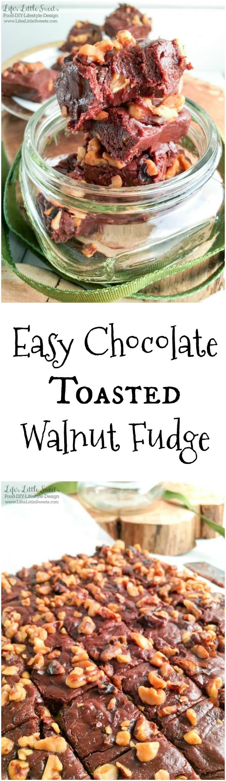Easy Chocolate Toasted Walnut Fudge - Marshmallow, Chocolate, Walnuts