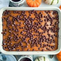 Pumpkin Pie Butterfinger Brownie Bars