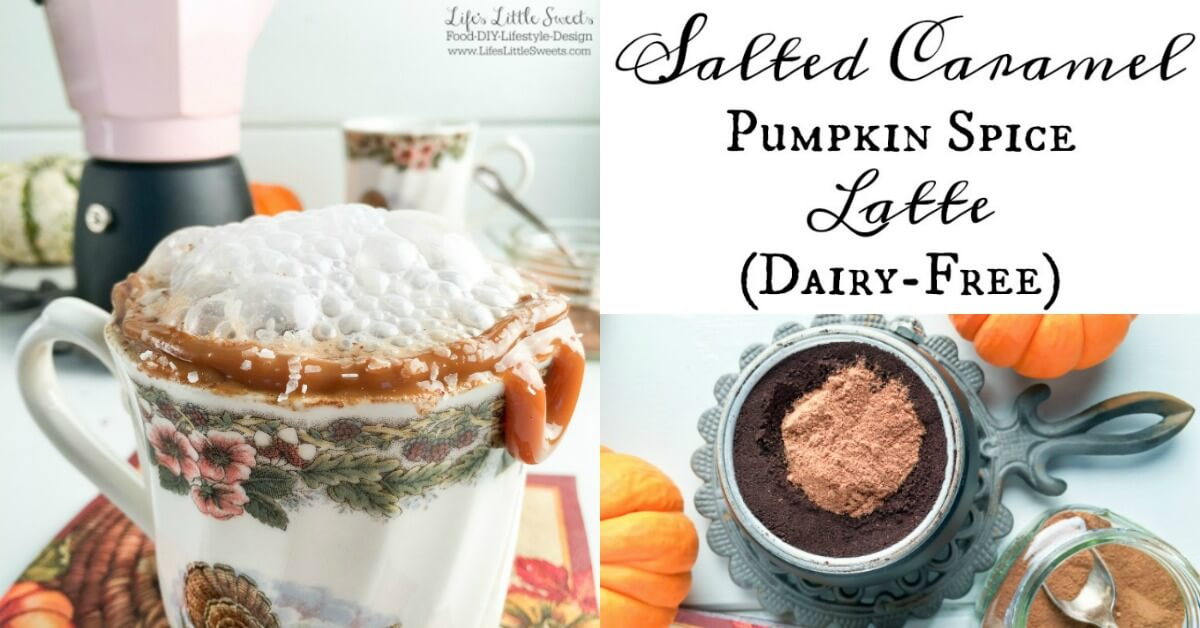 Salted Caramel Pumpkin Spice Latte - Silk Almond and Coconut Milk