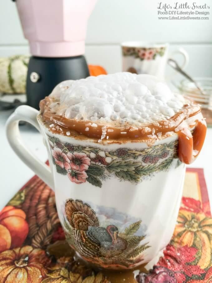 Salted Caramel Pumpkin Spice Latte (Dairy-Free)