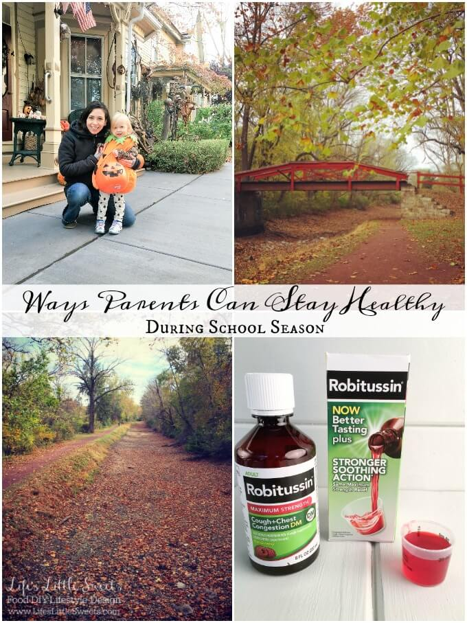 Here are 8 Ways Parents Can Stay Healthy During School Season! It sure can be a challenge while the kiddos are in school - see how Robitussin® DM Max Strength helped me out on Halloween and this past week! You can clear cough from your schedule too! #Healthy4School #CollectiveBias #ad @Walmart