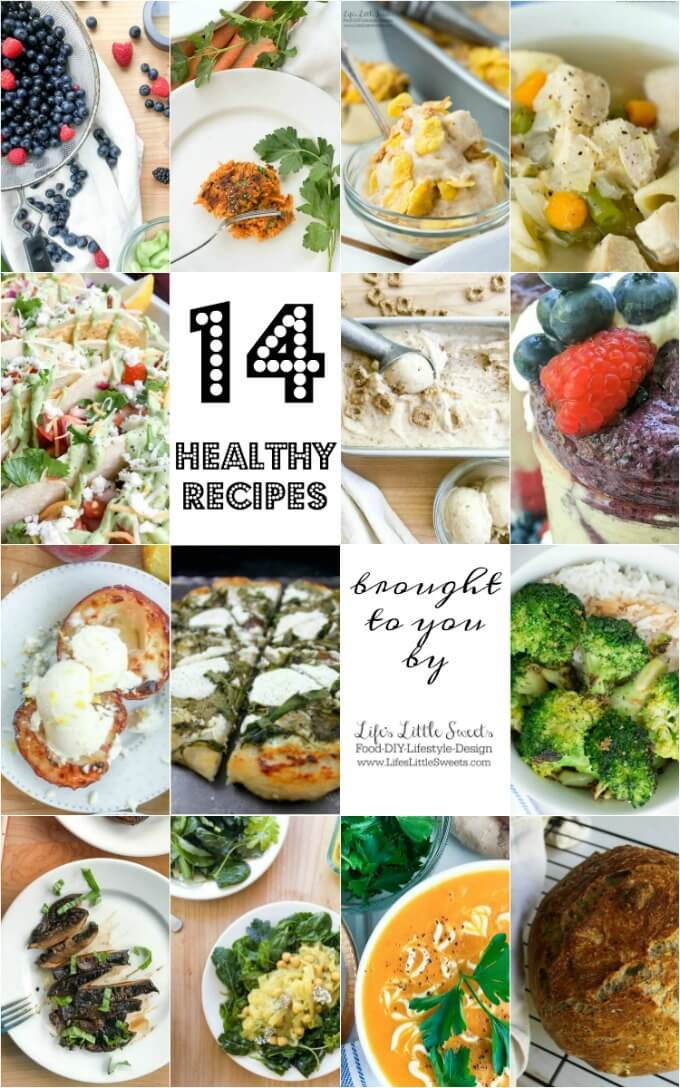 14 Healthy Recipes www.LifesLittleSweets.com